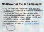 medisave for the self employed