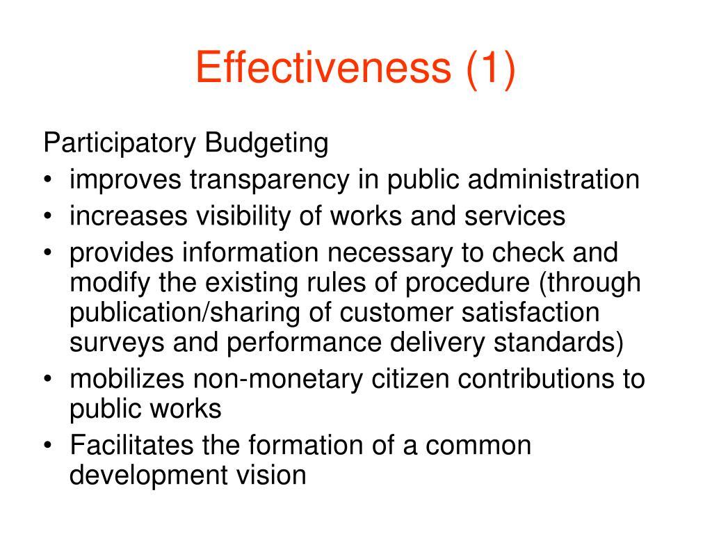 Effectiveness (1)