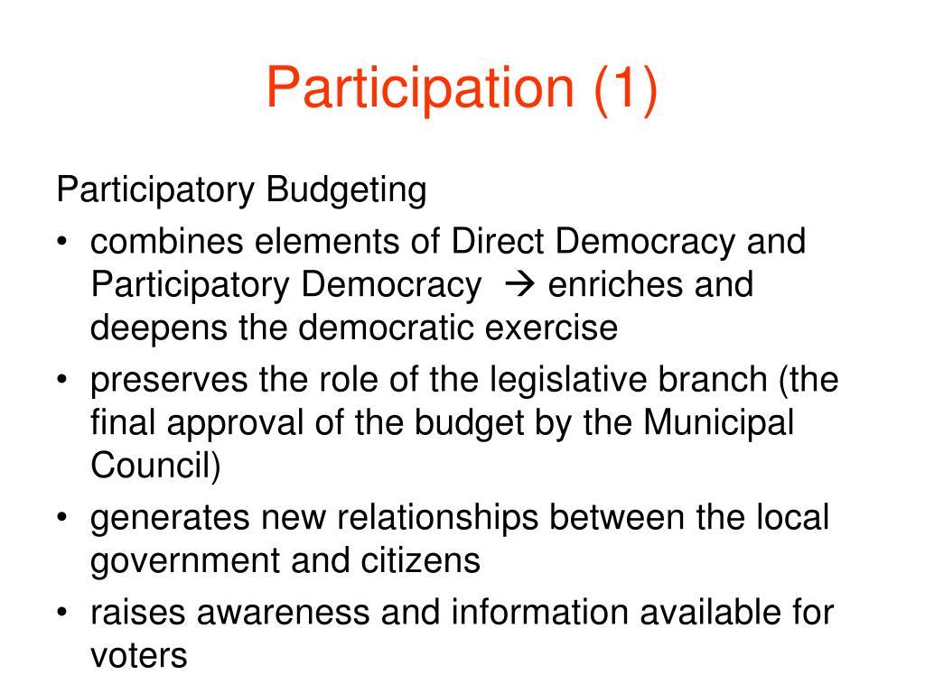 Participation (1)