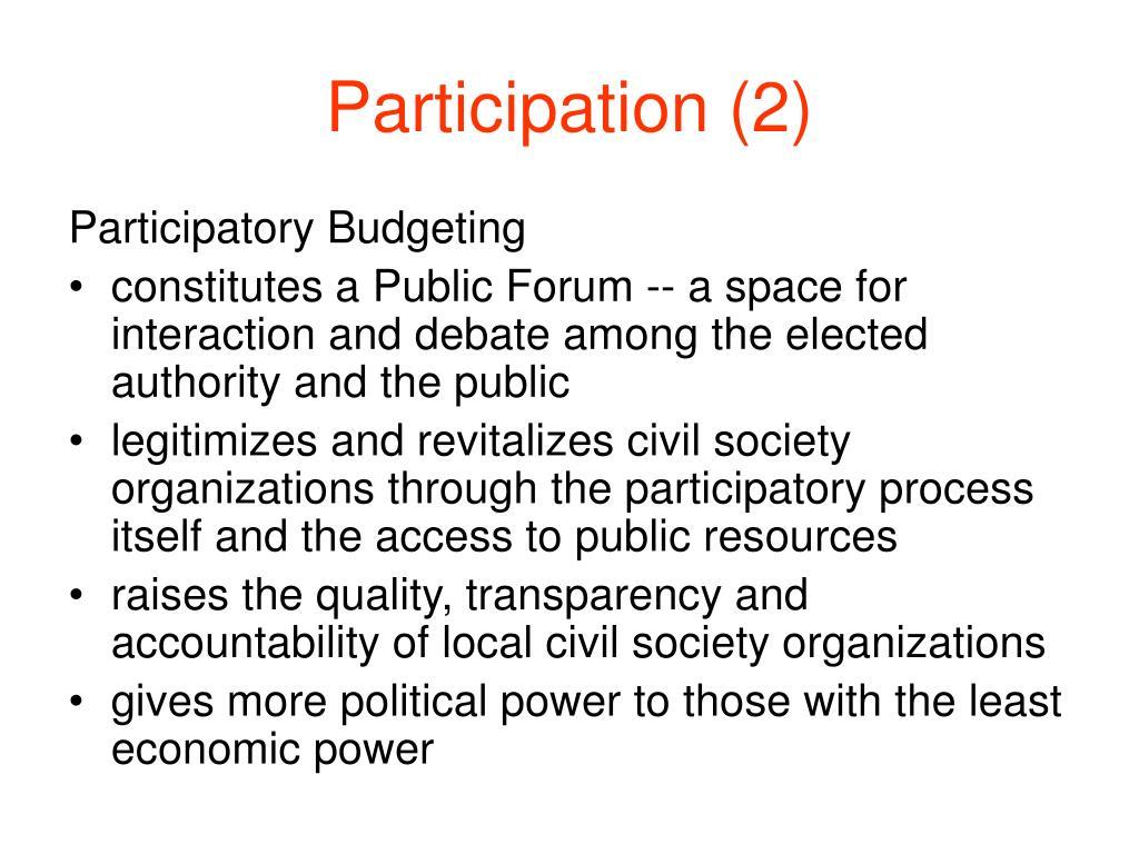 Participation (2)
