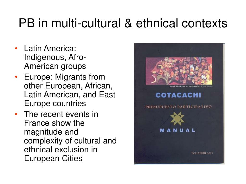 PB in multi-cultural & ethnical contexts