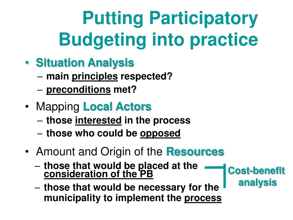 Putting Participatory Budgeting into practice