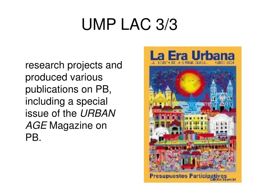 UMP LAC 3/3