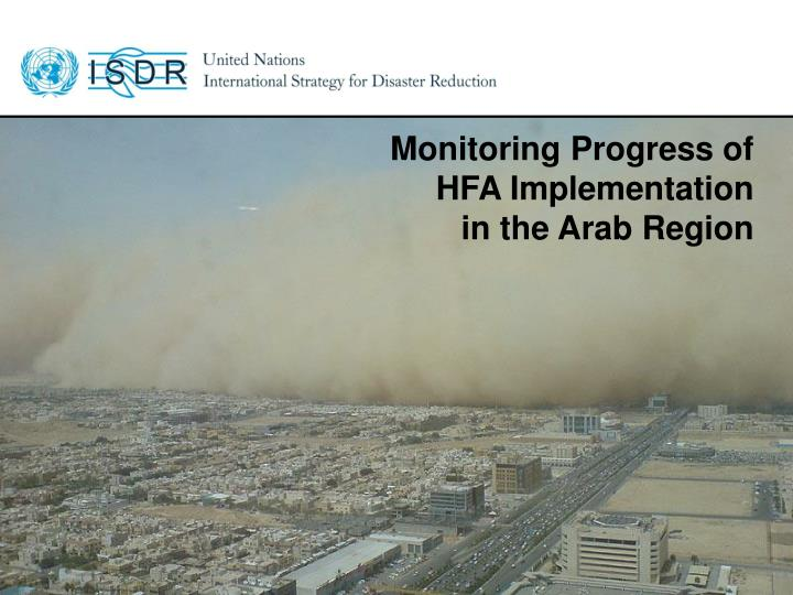 Monitoring Progress of HFA Implementation