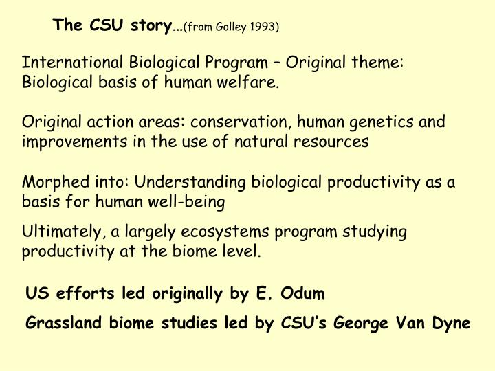 The CSU story…