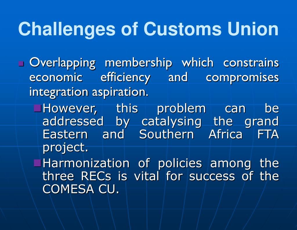 Challenges of Customs Union