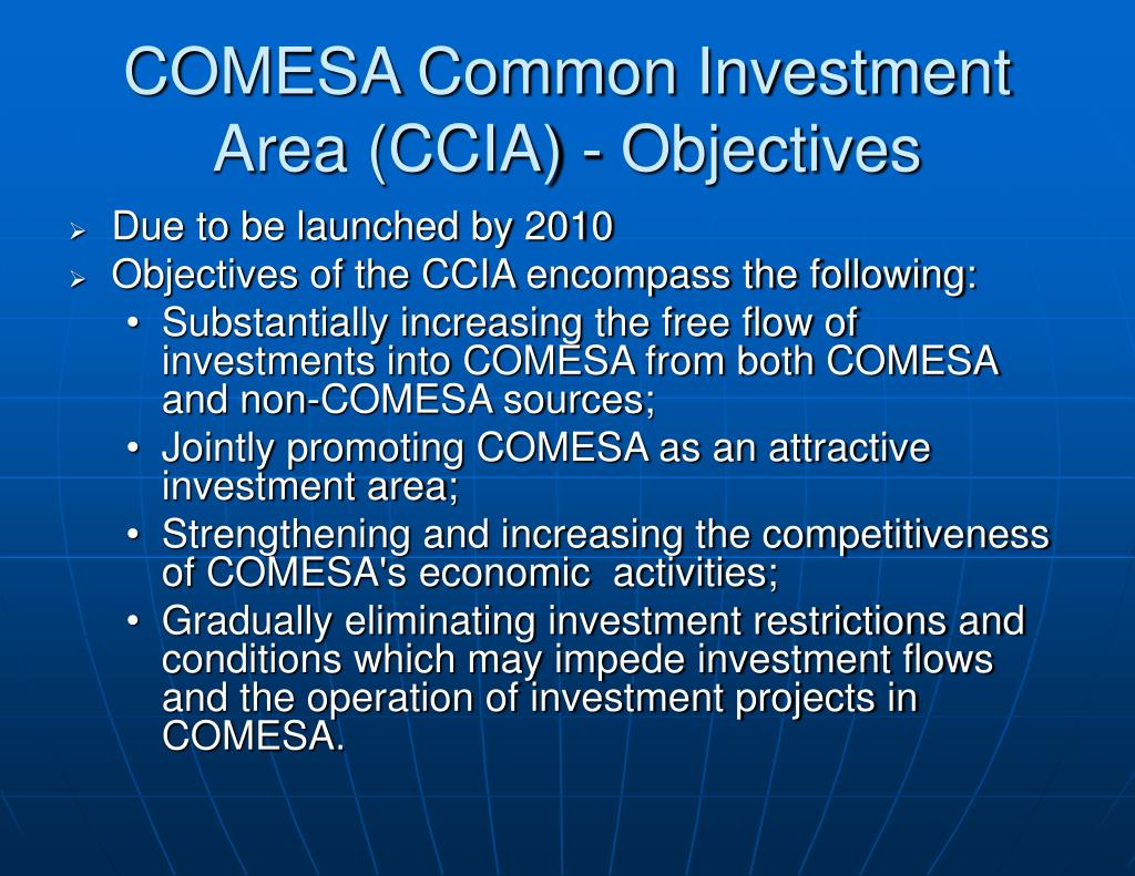 COMESA Common Investment Area (CCIA) - Objectives