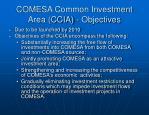 comesa common investment area ccia objectives
