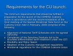 requirements for the cu launch