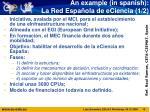an example in spanish la red espa ola de eciencia 1 2