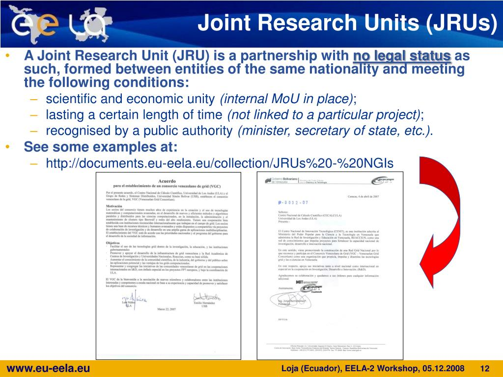 Joint Research Units (JRUs)