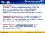 some concepts 1 2 www un org esa sustdev natlinfo indicators isd htm
