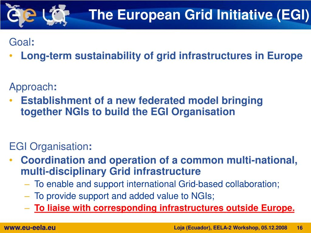 The European Grid Initiative (EGI)