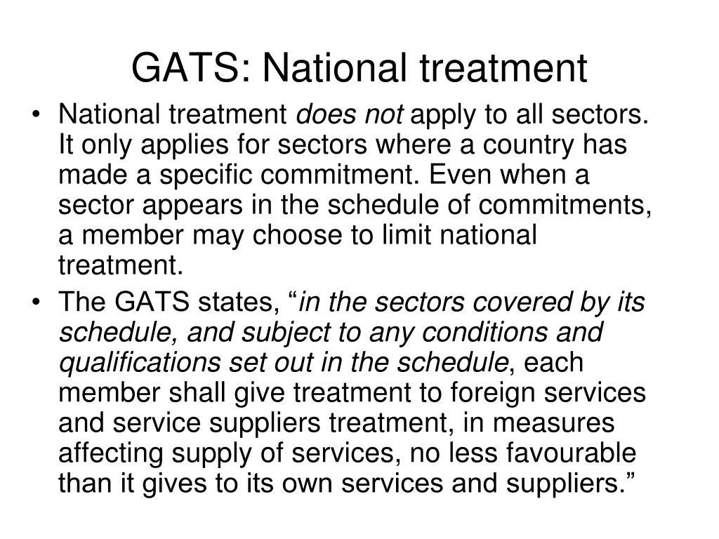GATS: National treatment