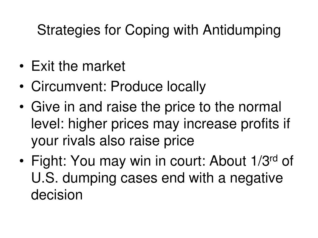 Strategies for Coping with Antidumping