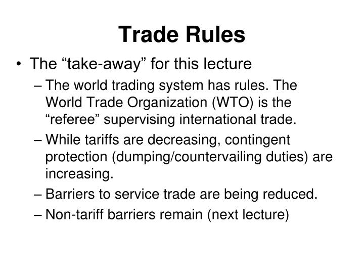 Trade rules