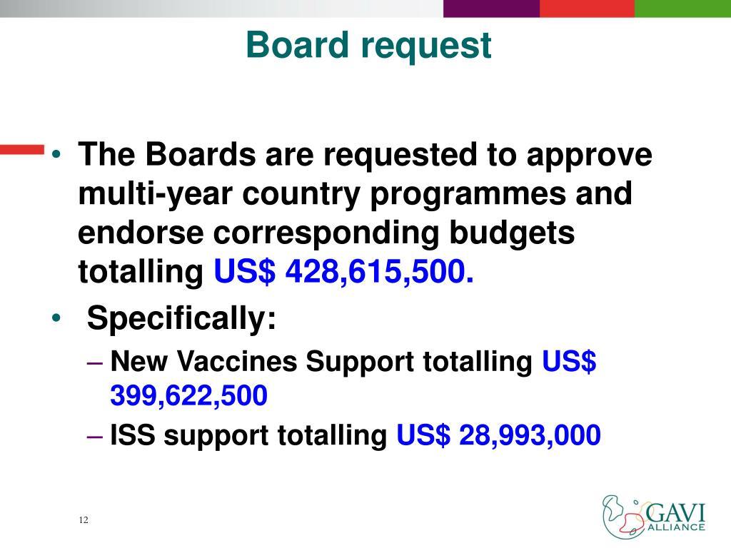 Board request