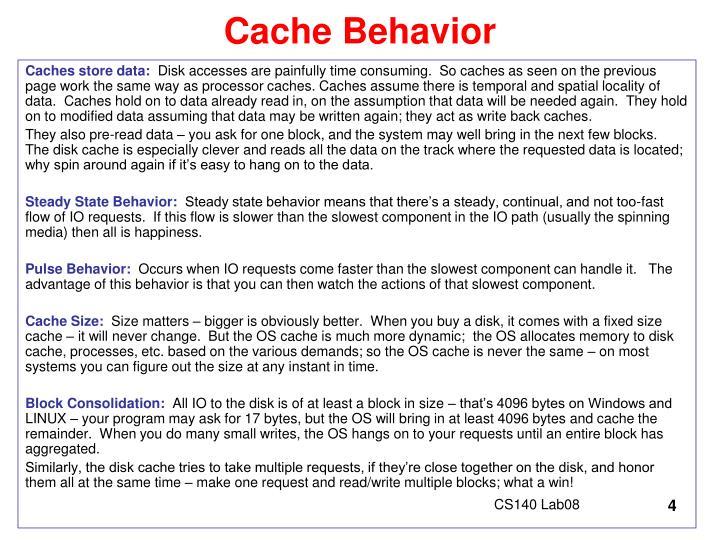 Cache Behavior
