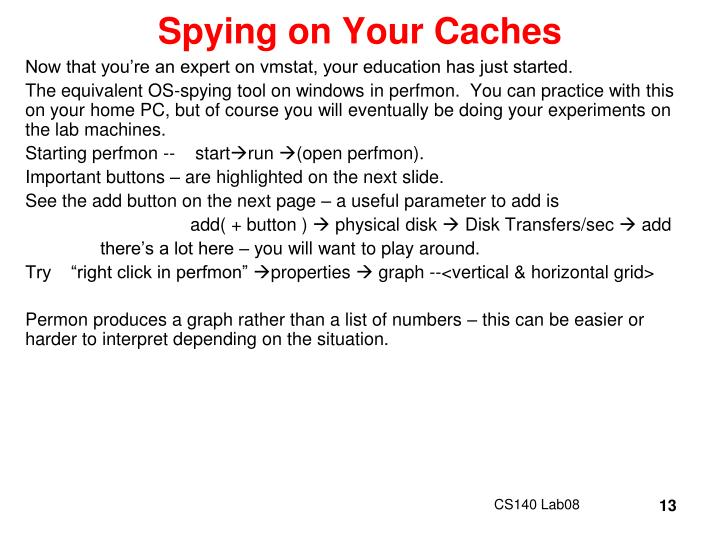 Spying on Your Caches