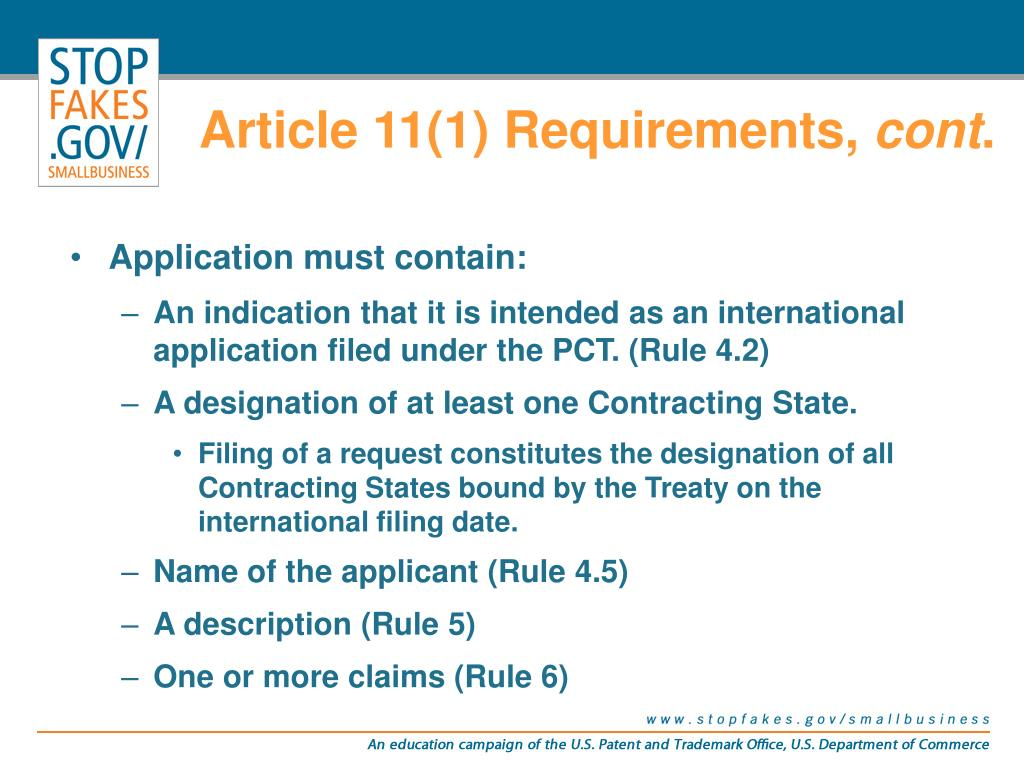 Article 11(1) Requirements,