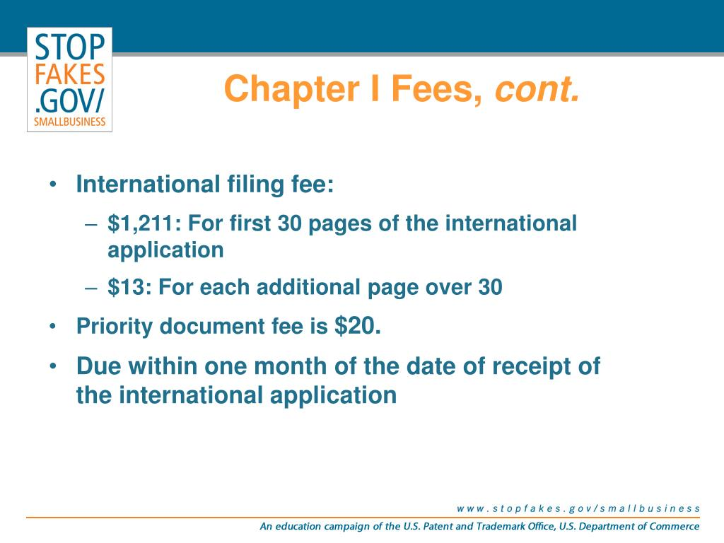 Chapter I Fees,