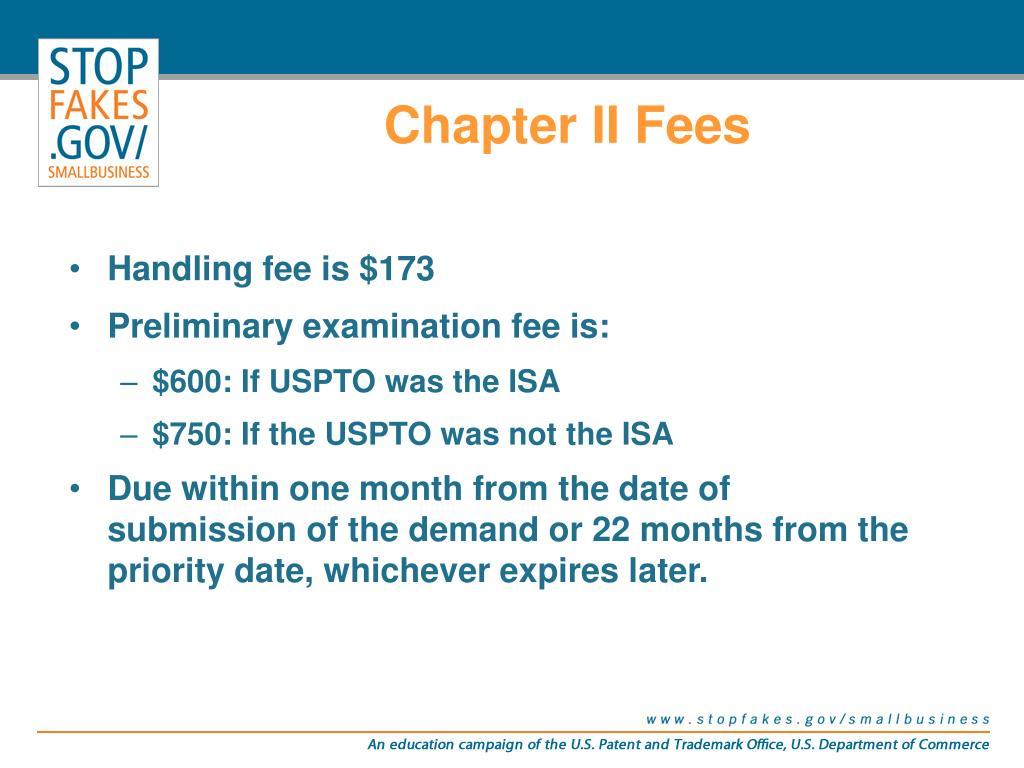 Chapter II Fees
