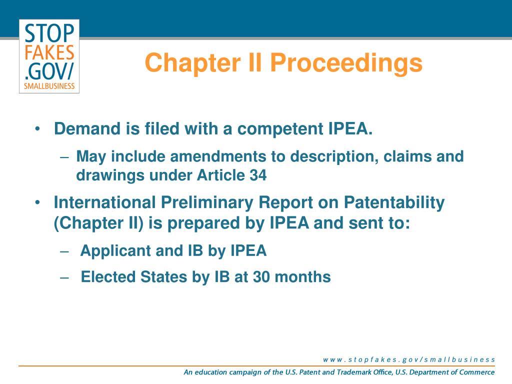 Chapter II Proceedings
