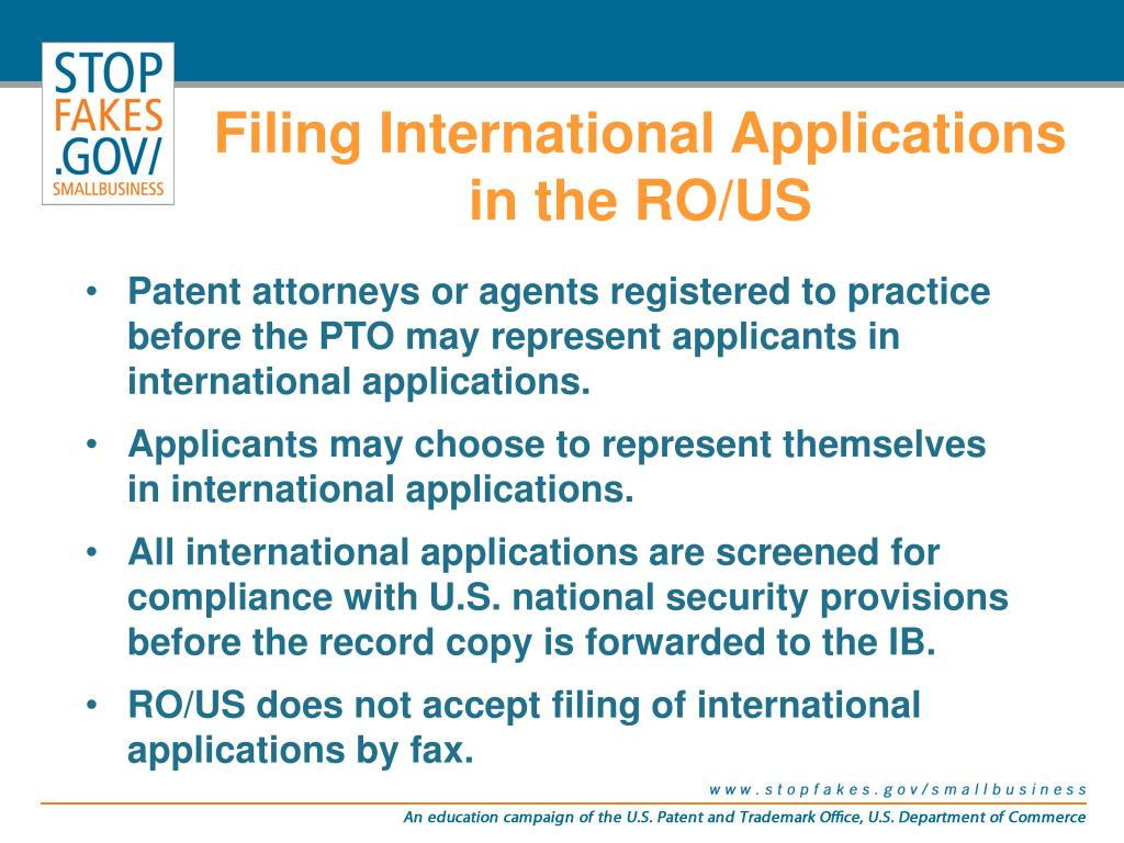 Filing International Applications in the RO/US