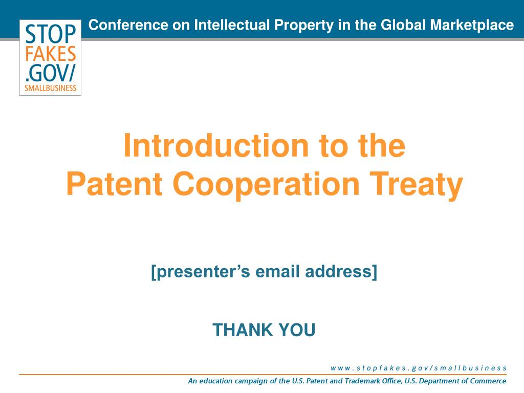 Conference on Intellectual Property in the Global Marketplace