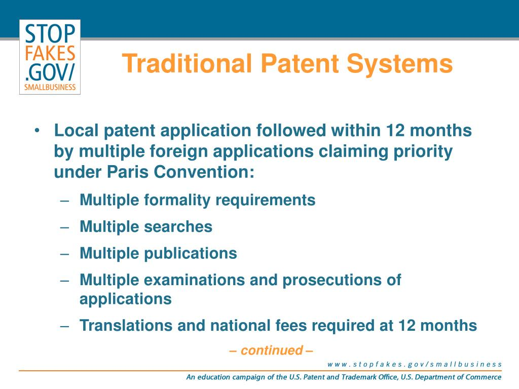 Traditional Patent Systems