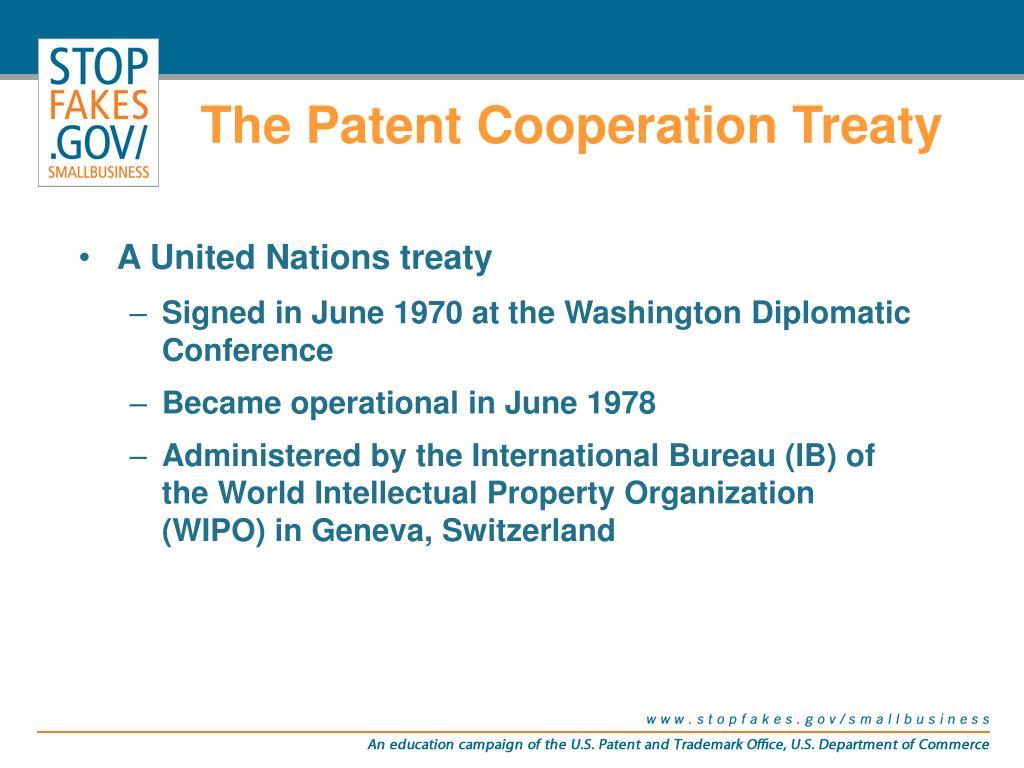 The Patent Cooperation Treaty