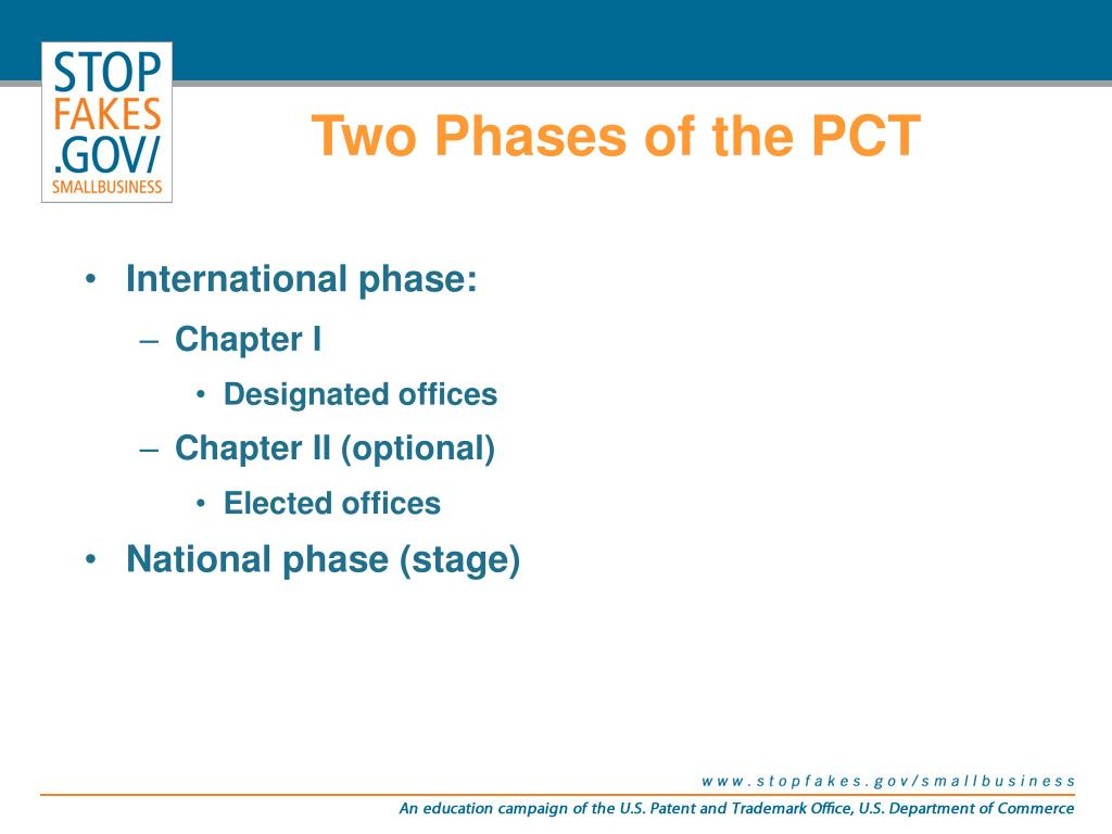 Two Phases of the PCT