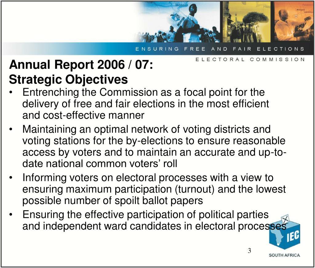 Annual Report 2006 / 07: