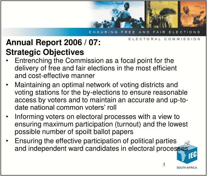 Annual report 2006 07 strategic objectives