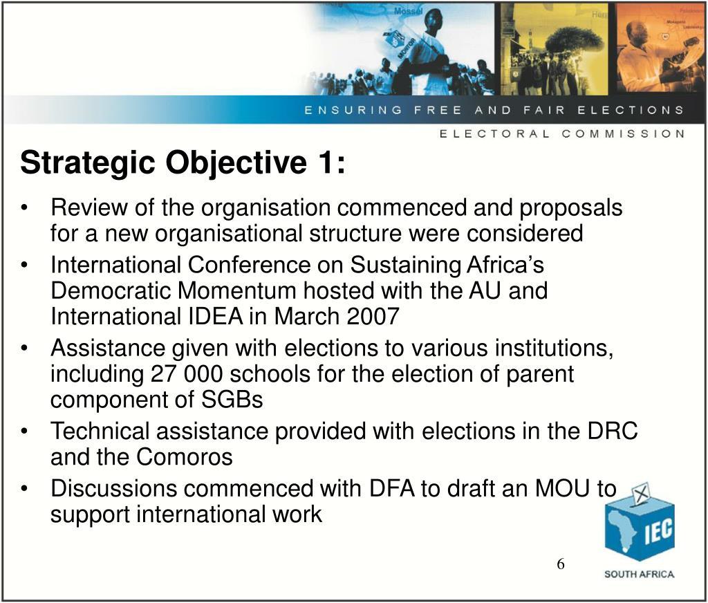 Strategic Objective 1: