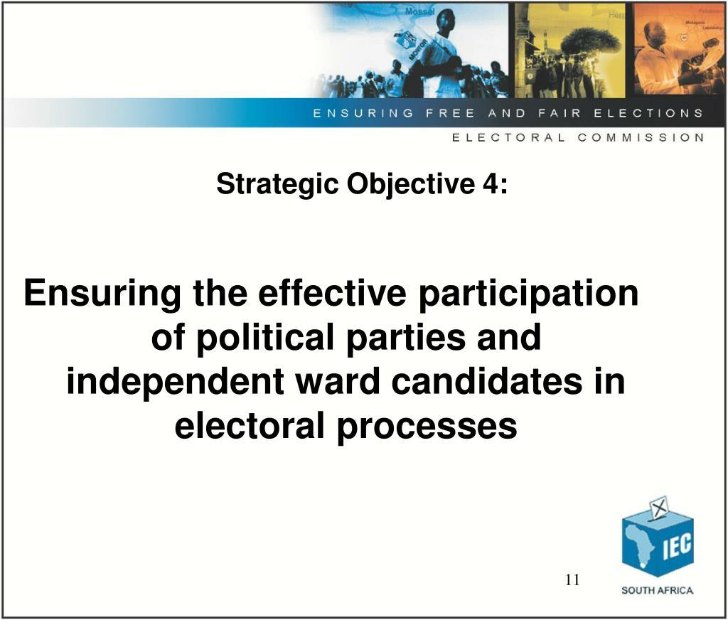 Strategic Objective 4: