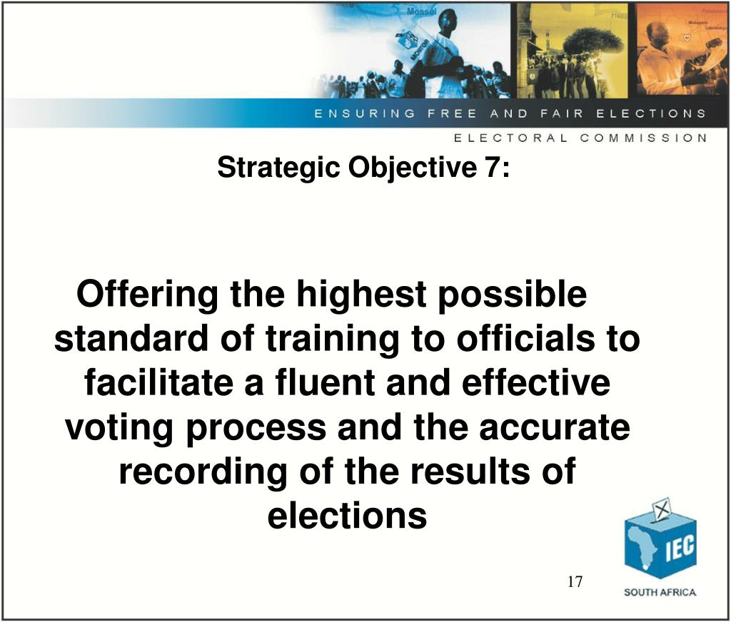 Strategic Objective 7: