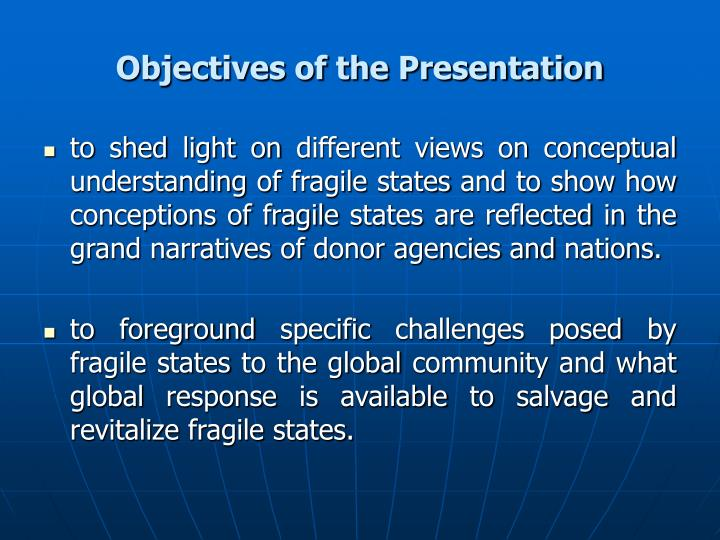 Objectives of the presentation l.jpg