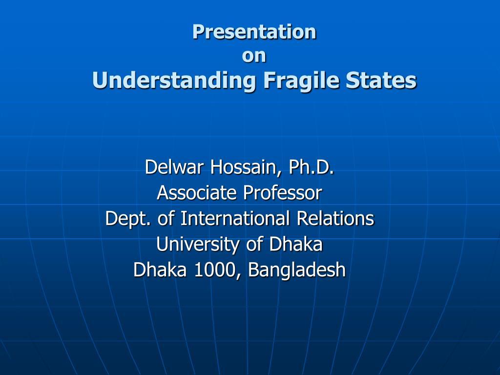 presentation on understanding fragile states