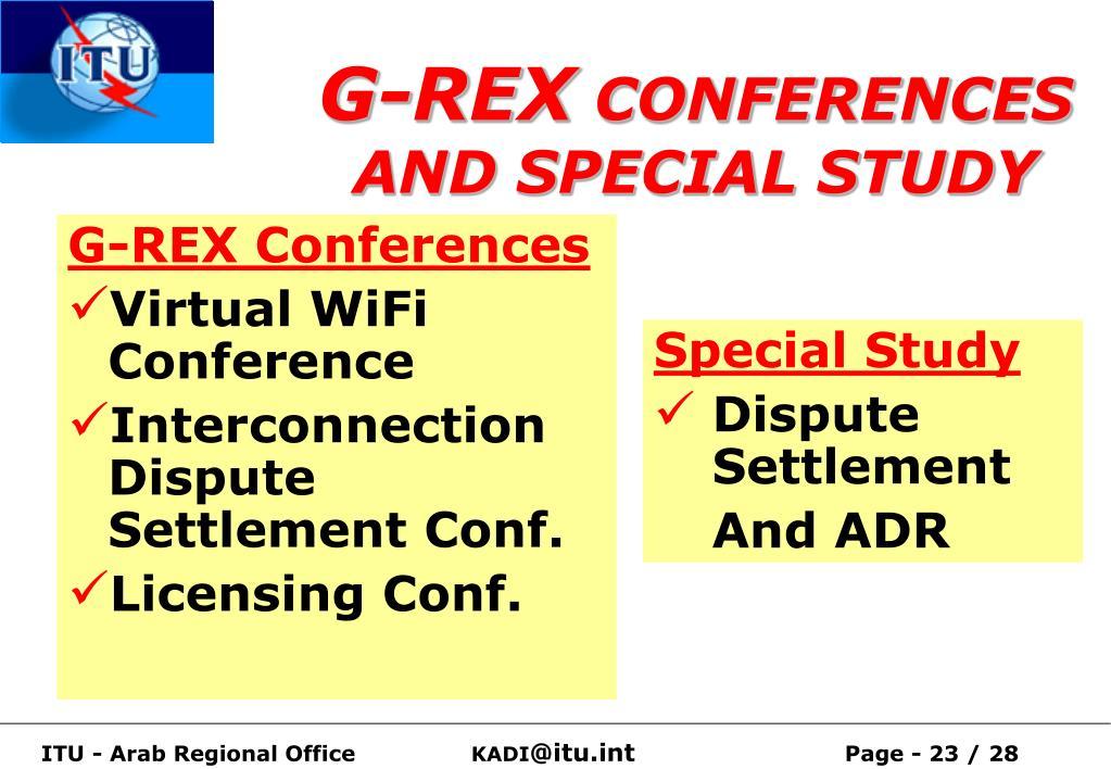 G-REX Conferences