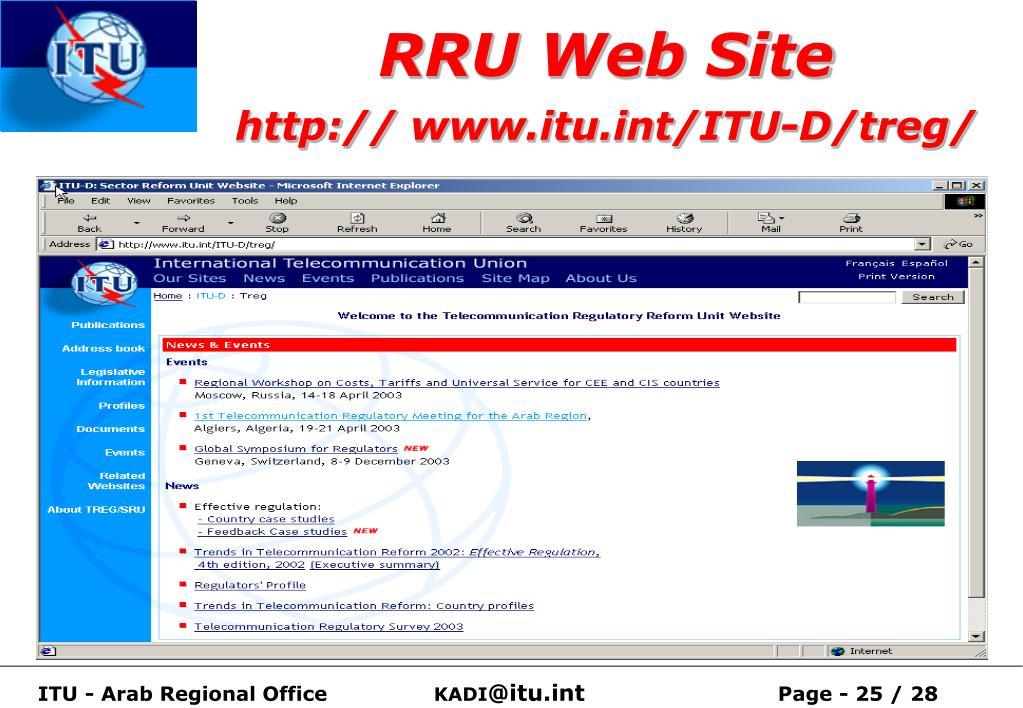 RRU Web Site
