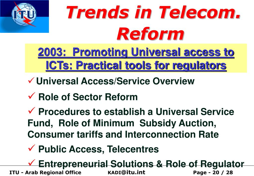 Trends in Telecom. Reform
