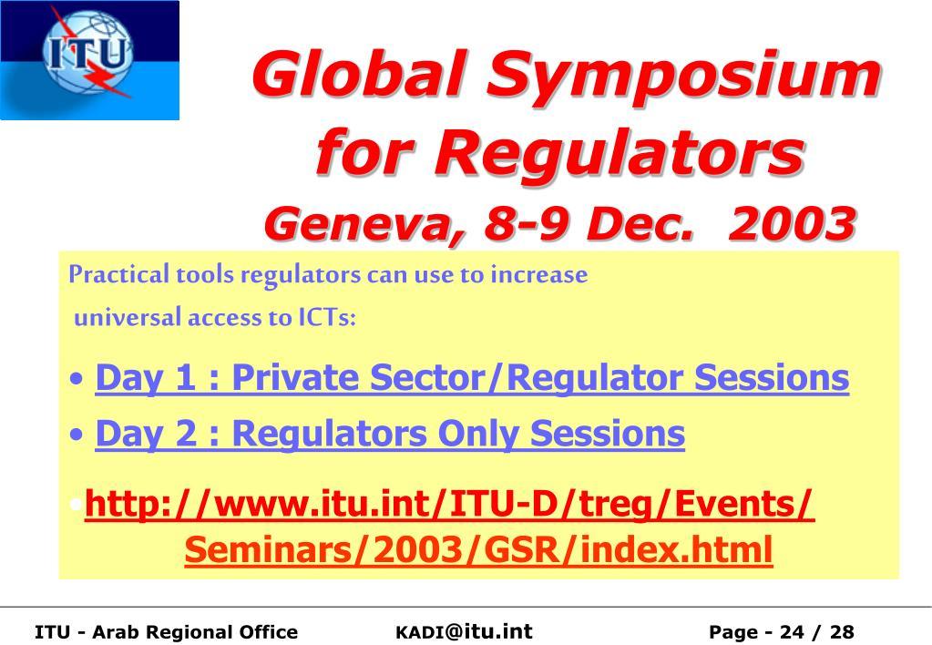 Global Symposium for Regulators
