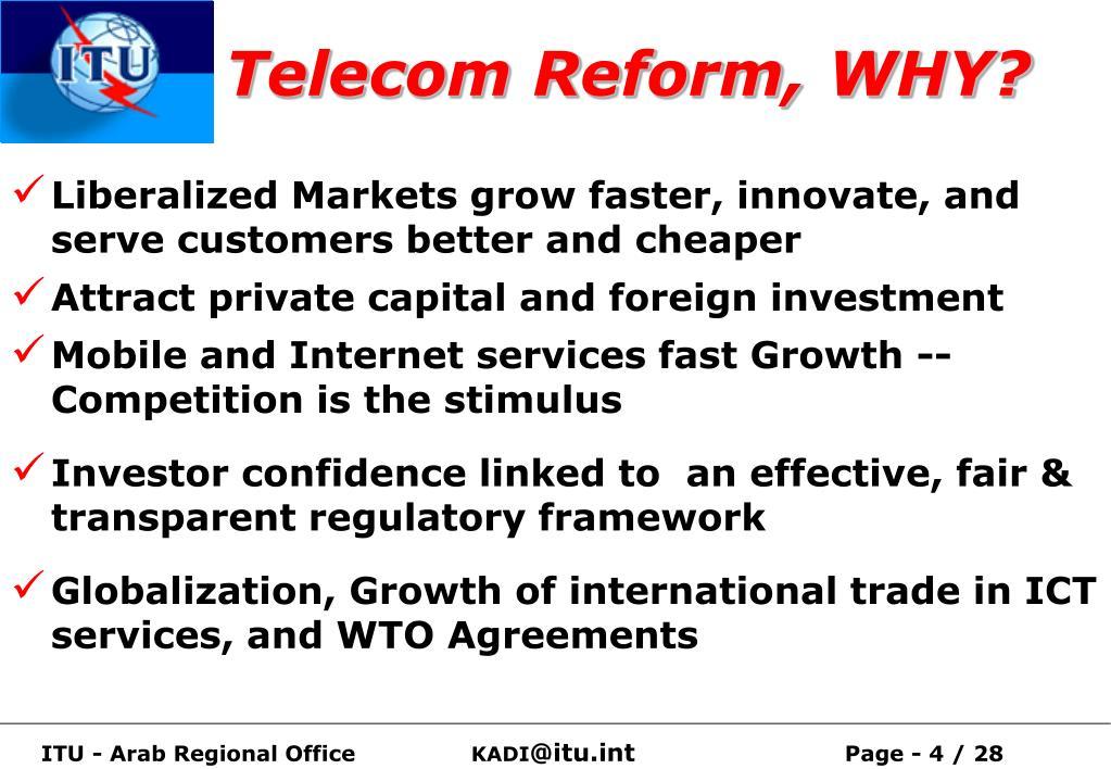 Telecom Reform, WHY?
