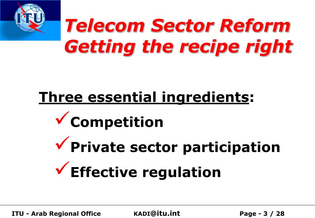 Telecom Sector Reform