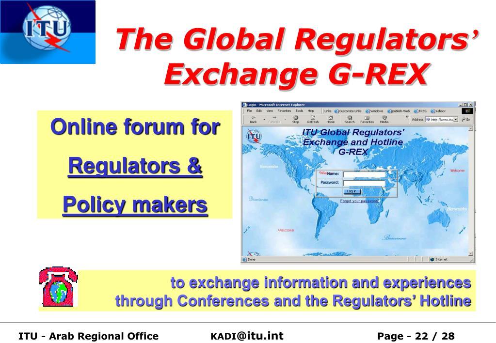 The Global Regulators