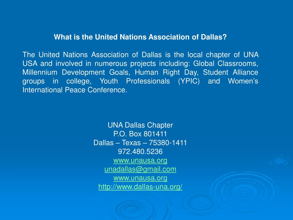 What is the United Nations Association of Dallas?