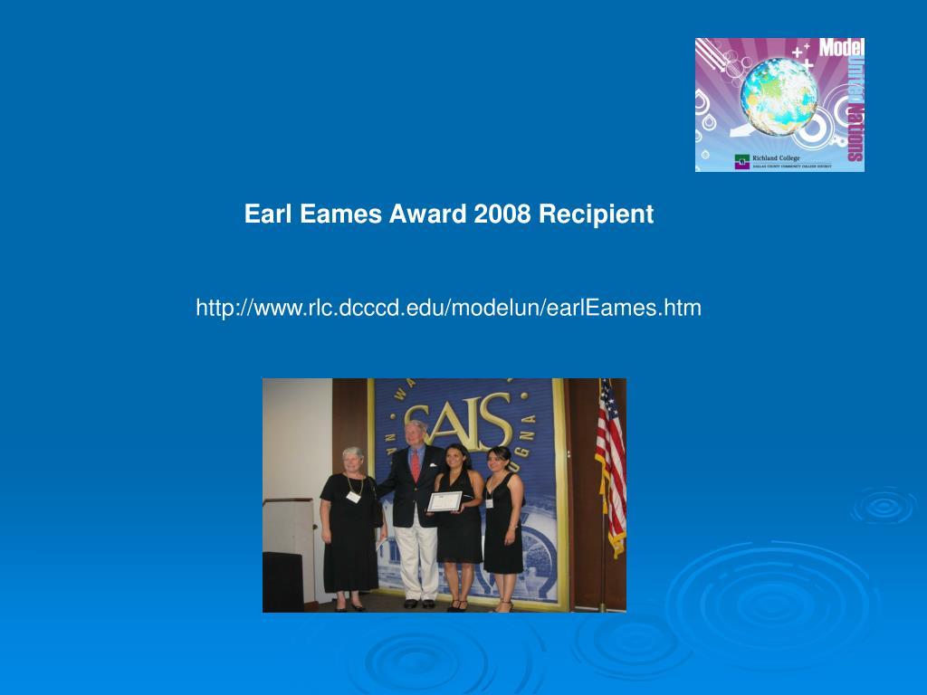 Earl Eames Award 2008 Recipient