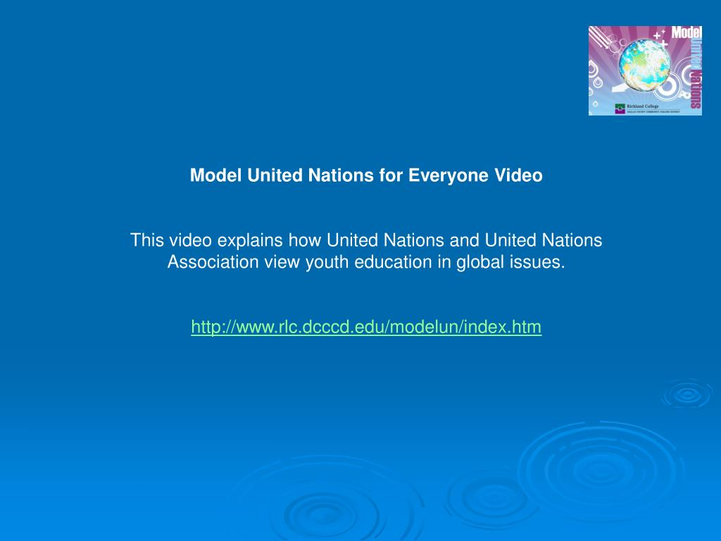 Model United Nations for Everyone Video