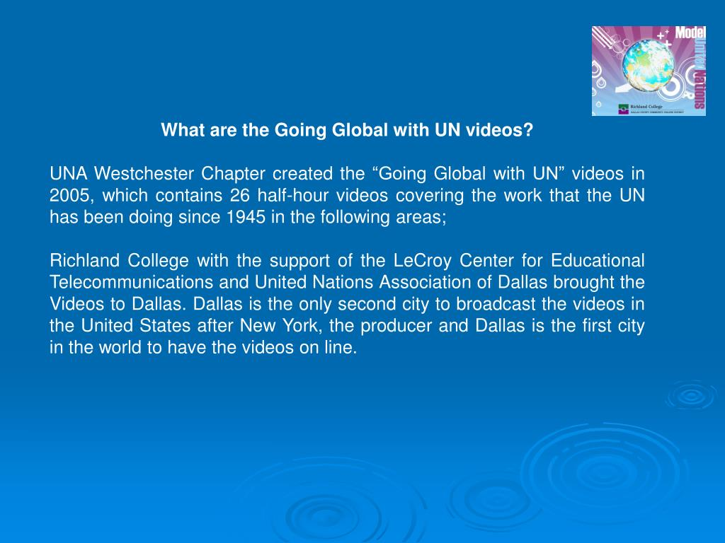 What are the Going Global with UN videos?